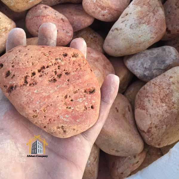 سنگ قلوه رودخانه ای قرمز افشار کمپانی