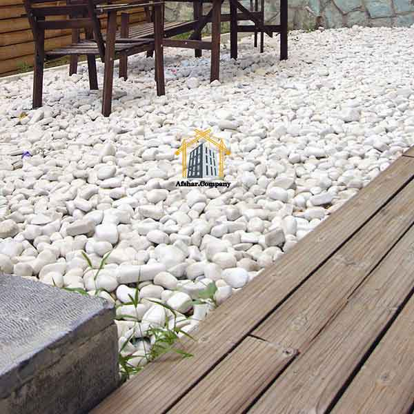 استفاده از قلوه سنگ رودخانه در هتل ها، ویلا ها، باغ ویلا ها
