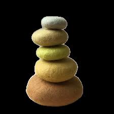 قلوه سنگ رودخانه ای زرد