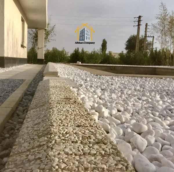محوطه سازی با واش بتن و سنگ رودخانه ای افشار کمپانی